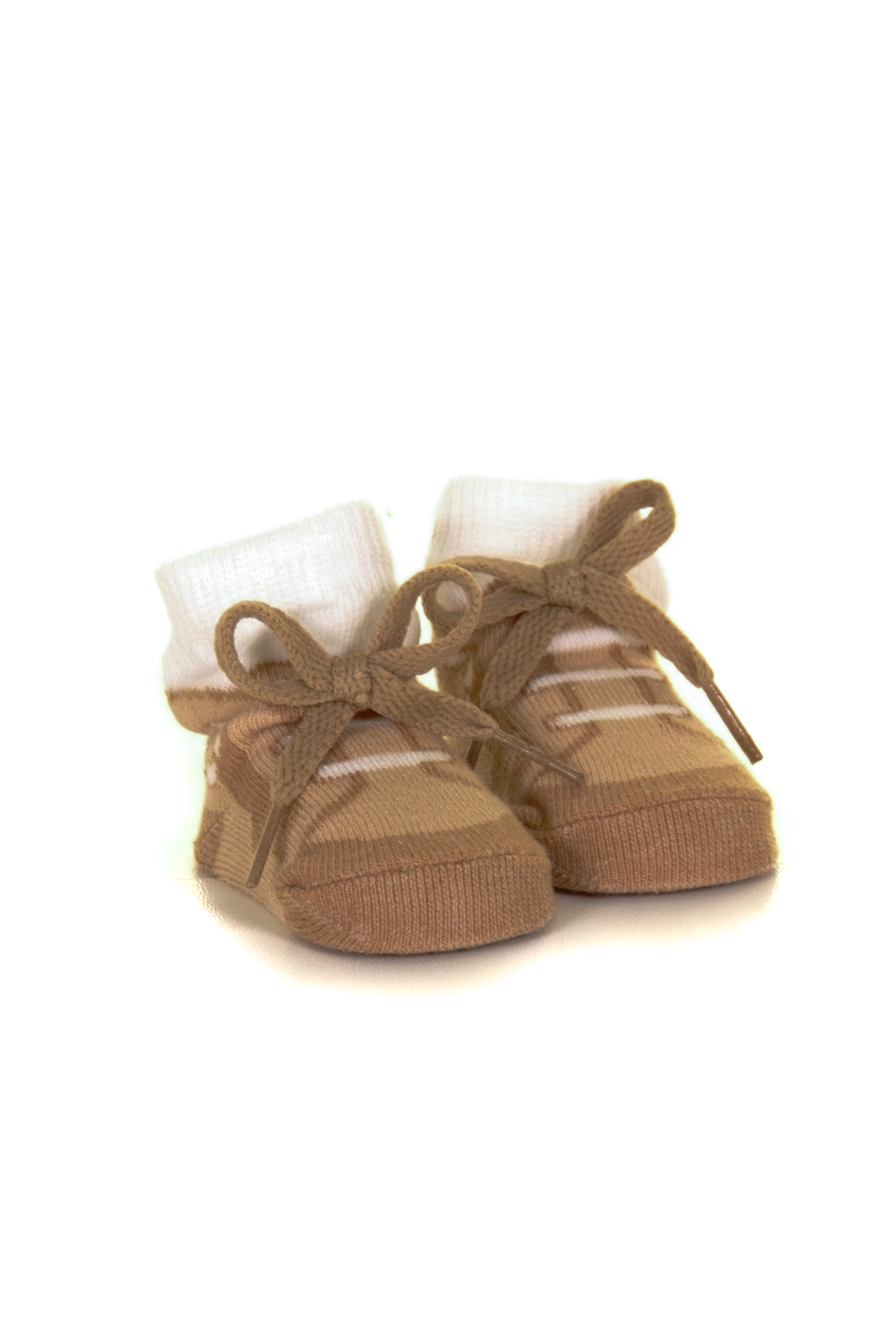 Brown baby booties gift