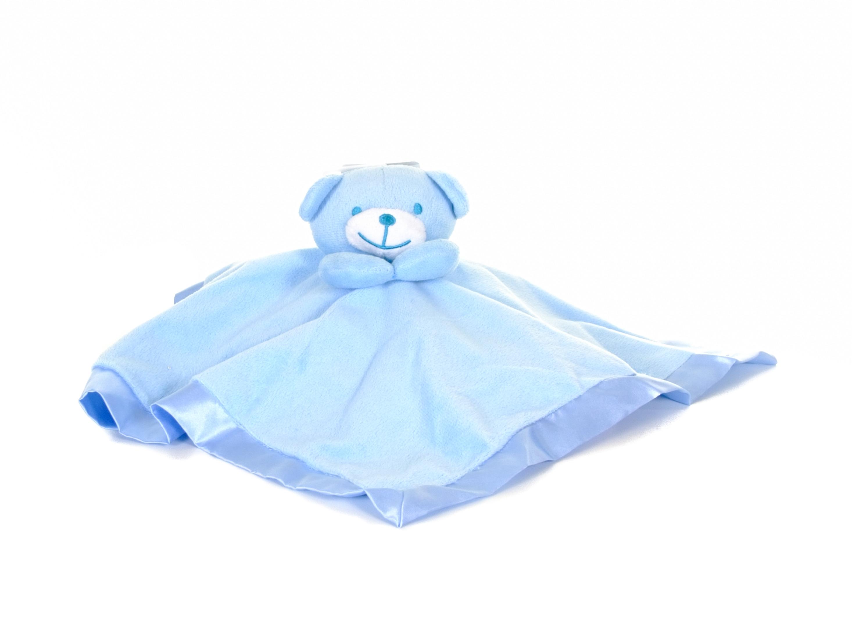 Blue baby comforter