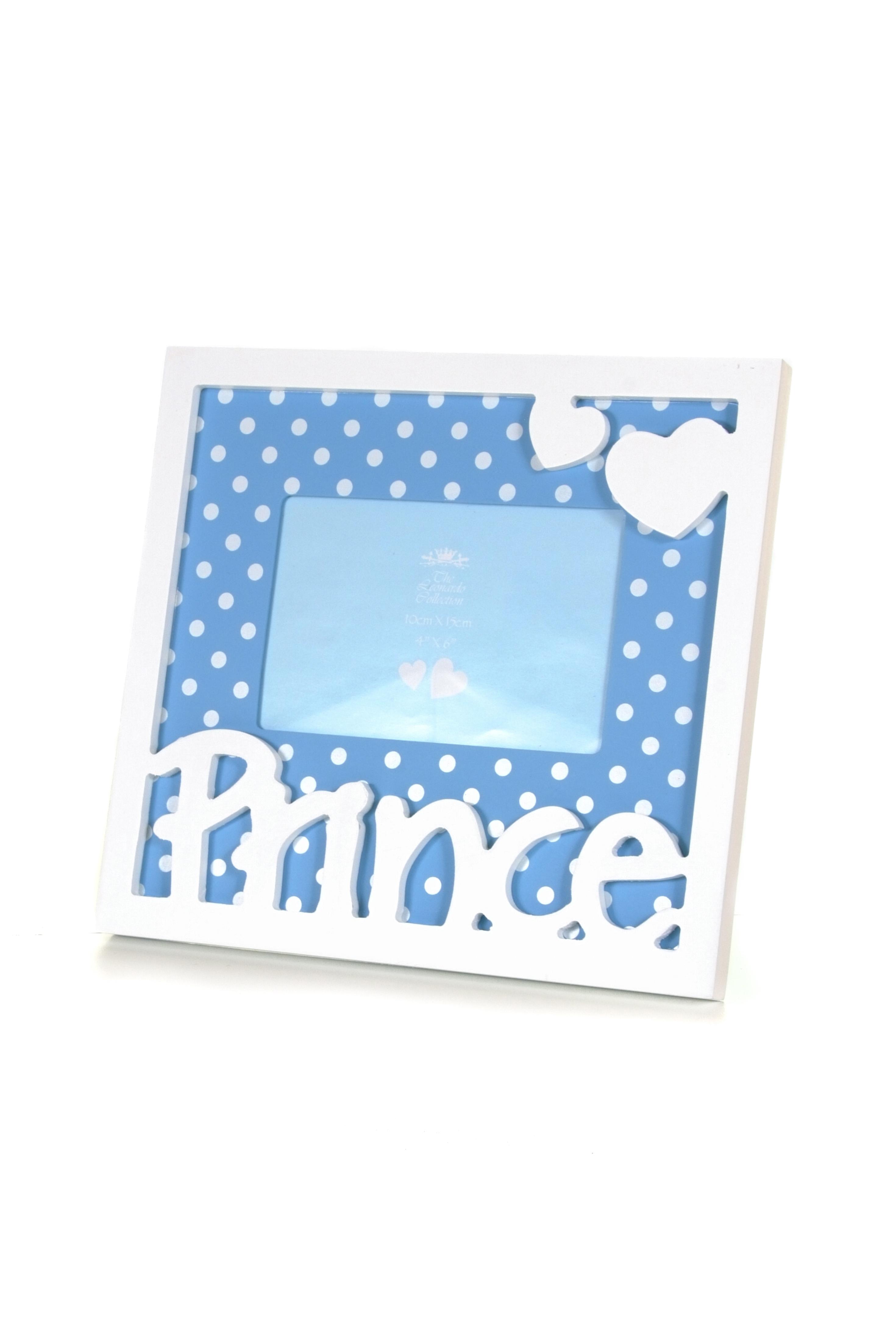 Blue baby boy Prince photo frame
